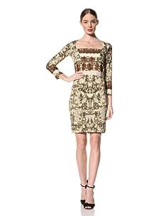 Just Cavalli Women's Square Neck Jersey Dress (Green Print)
