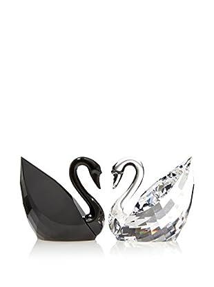 Swarovski Swan Crystal and Jet Figurine