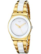 Swatch Analog White Dial Women's Watch - YLG122G