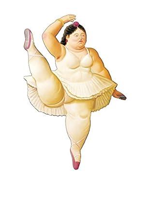 ARTOPWEB Wandbild Botero Ballerina To The Handrail
