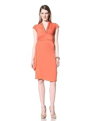 Z Spoke Zac Posen Women's Draped Dress (Orange)