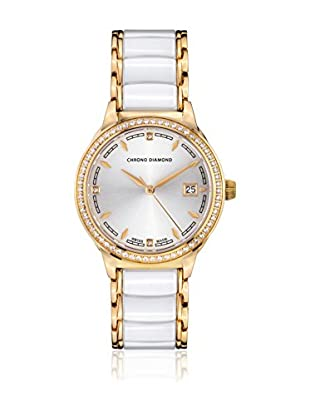 Chrono Diamond Reloj con movimiento cuarzo suizo Woman 10410F Thyrsa Blanco 34.0 mm