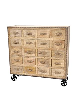 Emmerson Apothecary Cabinet, Natural/Black