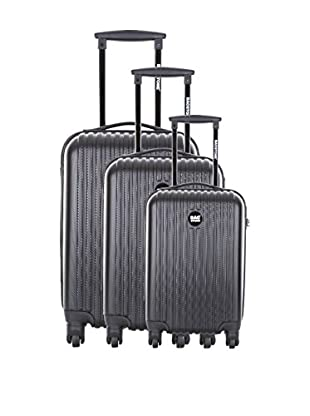 Bag Stone Set de 3 trolleys rígidos Blue Negro