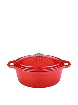BergHOFF Neo 8Qt Cast Iron Oval Covered Casserole, Red