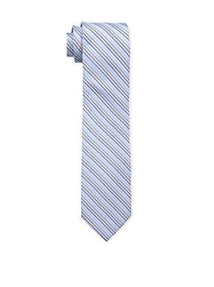 Bruno Piattelli Men's Stripe Silk Tie, Blue