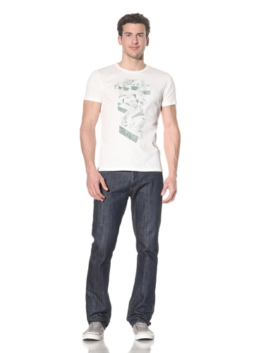 Tee Library Men's Nudge T-Shirt (White)