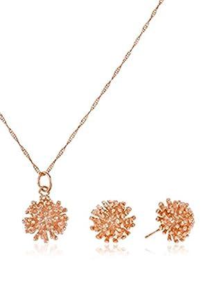 Córdoba Jewels Set Kette, Anhänger und Ohrringe vergoldetes Silber 925
