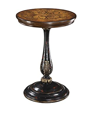 Coast to Coast Round Accent Table, Brown