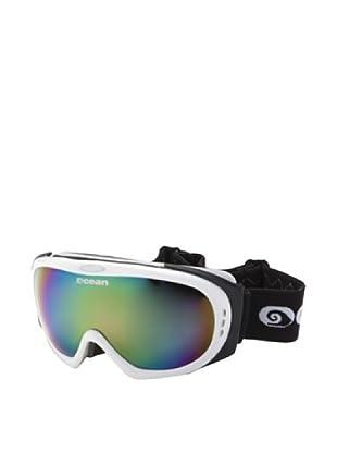 Ocean Máscara Ski Mont Black (Blanco Brillante / Multicolor)