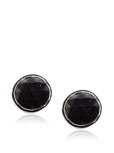 Catherine Angiel White Gold Black Diamond Stud Earrings