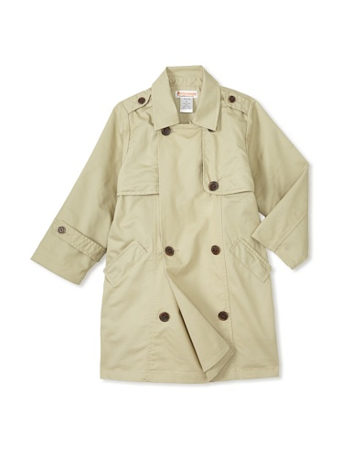 Hippototamus Trench Coat with Nylon Ripstop Back Panel (Sand/khaki)