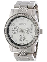 XOXO Womens XO5203 Rhinestone Accent Silver-tone Bracelet Watch