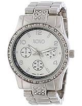 XOXO Womens XO5203 Rhinestone Accent Silver-tone Bracelet Watch