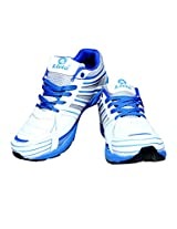 Livia545 White Blue Sport Shoes