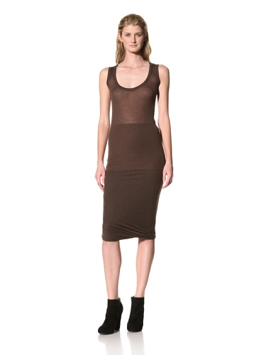 RICK OWENS Women's Light Rib Tank (Bitter)