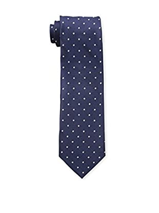 Bruno Piattelli Men's Dot Silk Tie, Navy