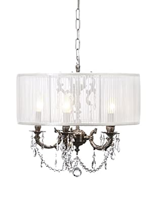 Swarovski Chandeliers by Gold Coast Lighting Allison Chandelier, Pewter
