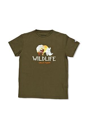 National Geographic Camiseta Rhino (Verde Musgo)