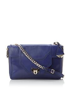 Rebecca Minkoff Women's Allie Convertible Handbag with Zippered Gussets (Royal)