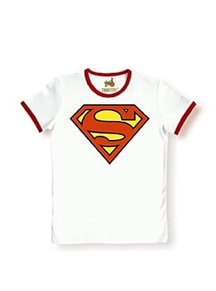 Logoshirt Camiseta Superman (Blanco / Rojo)