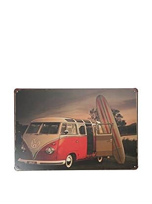 LO+DEMODA Wandbild Surfer Volkswagen