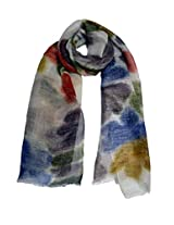 She Dezire multiprinted wool linen stole