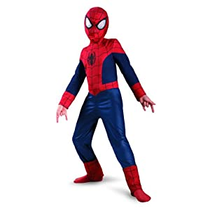 Disguise Boy's Marvel Ultimate Spider-Man Classic Costume, 3T-4T