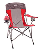 Equip High Back Chair, Tomato Red/Stormy Gray