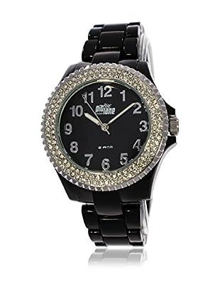 Pit Lane Uhr mit Miyota Uhrwerk Pl-4002-1 schwarz 40 mm