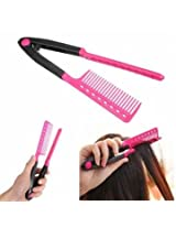 Folding Hair V Comb Hairdressing Styling Straightener Salon Tool