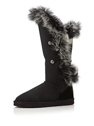 Australia Luxe Collective Women's Nordic Angel Tall Boot with Fox Fur (Black)