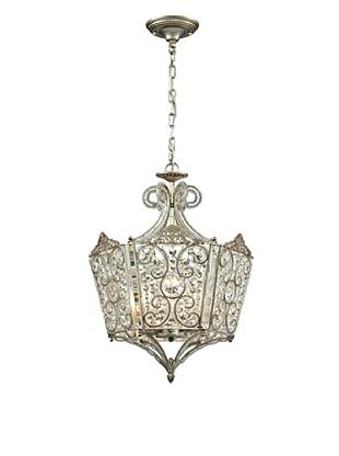Artistic Lighting Villegosa Collection 8-Light Pendant, Aged Silver
