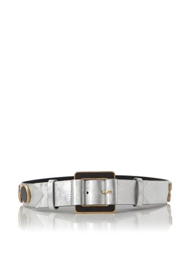 Meredith Wendell Women's Glass Circles Belt (Foil)