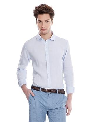 Pedro del Hierro Camisa Lino Liso (Azul)