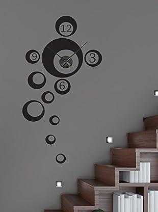 Ambiance Live Vinilo Decorativo Clock numbers in bubbles Negro