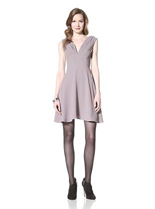 Z Spoke Zac Posen Women's V-Neck Dress (Cement)
