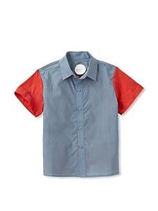 kicokids Boy's Graphic Lego Patchwork Shirt (Surf)