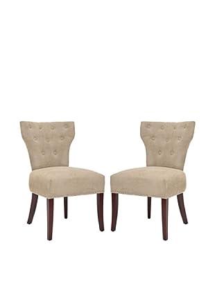 Safavieh Set of 2 Broome Side Chairs, Sage