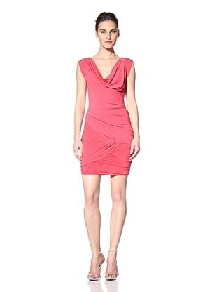 Vera Wang Lavender Women's Asymmetrical Draped Jersey Dress (Lipstick)