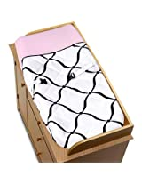 Pink, Black and White Princess Baby Changing Pad Cover by Sweet Jojo Designs