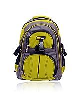 Yark Grey & Green Buckle Backpack