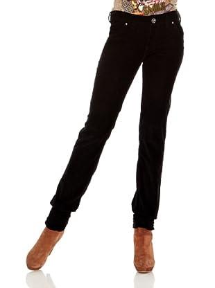 Desigual Pantalón Vir (Negro Estampado)
