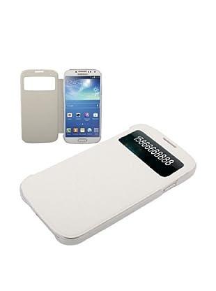 Unotec Custodia con Ventosa Flip per Galaxy S4 Bianco