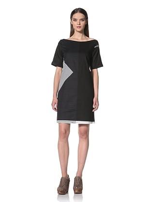 JIL SANDER NAVY Women's Short Sleeve Printed Dress (Navy)