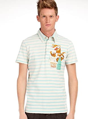Custo Poloshirt (Grün/Creme)
