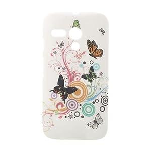Generic Hard Back Case Cover for Motorola Moto G (Vivid Butterflies)