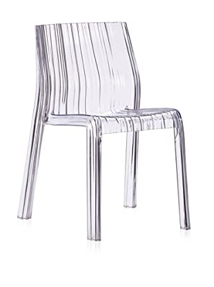 Zuo Set of 4 Ruffle Dining Chair (Clear)