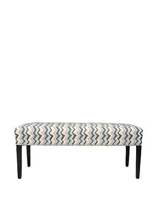 Sole Designs Denton Zigzag Bench, Grey/Blue