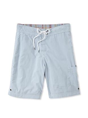Tailor Vintage Men's Reversible Board Shorts (Sky/Plaid)